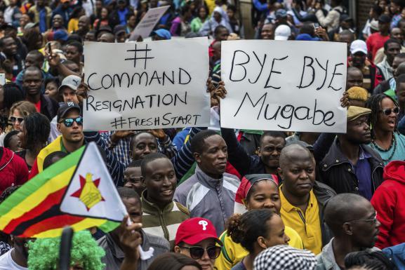Nombreux sont le Zimbabwéens qui sont descendus dans la rue pour demander la démission de Robert Mugabe