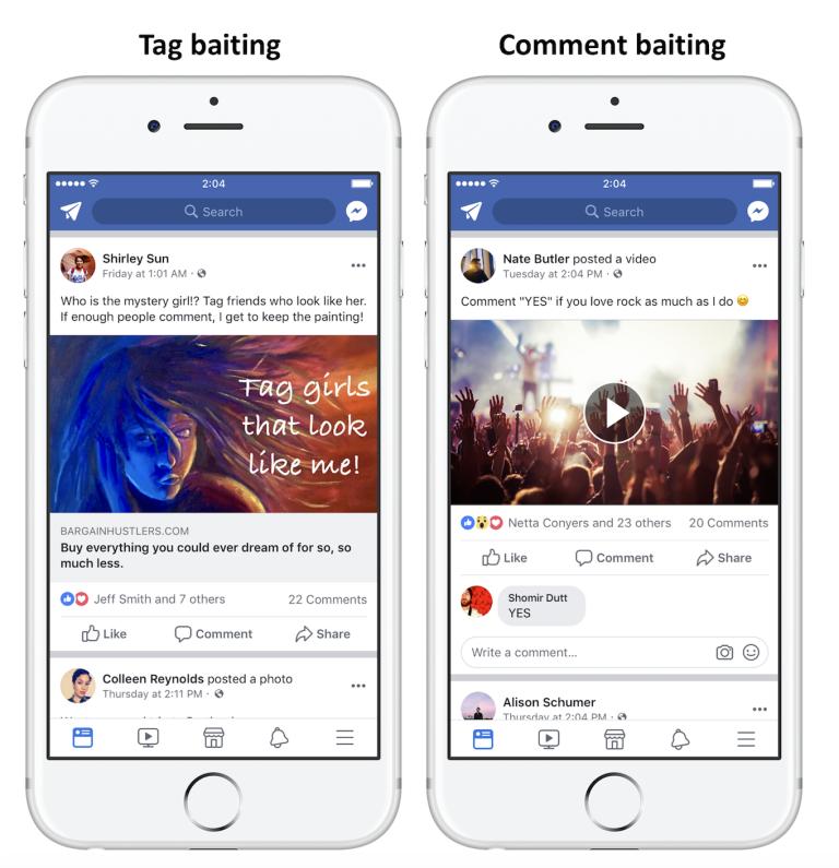 Facebook va déclasser ceux qui abusent de l'engagement bait